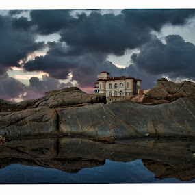 BOCCALE CASTLE LIVORNO TUSCANY ITALY by Gianluca Presto - Landscapes Cloud Formations ( clouds, water, reflection, tuscany, toscana, sea, castello, travel, story, mistery, italia, legend, cloud, castle, livorno, rocks, italy,  )