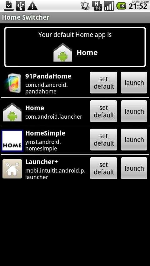 Home Switcher - screenshot