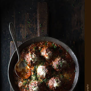 Cinnamon Meatballs with Marinara Sauce.