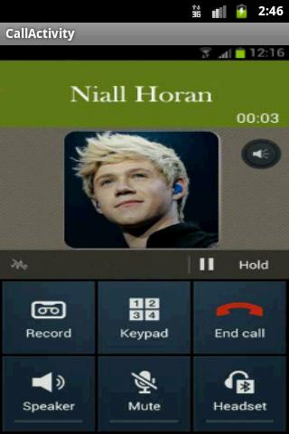 One Direction Call - screenshot
