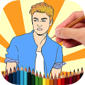 Coloring Book Justin Bieber icon