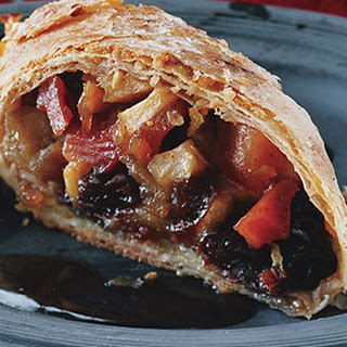 Quince Apple Strudels with Quince Syrup