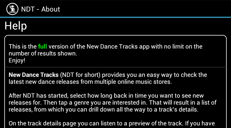 New Dance Tracks - screenshot