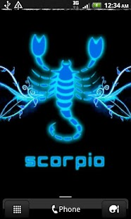 SCORPIO - Neon Blue Clock - screenshot thumbnail