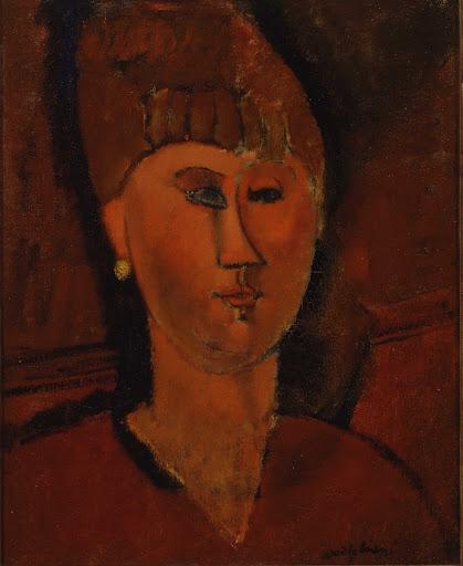 Testa di donna dai capelli rossi - Amedeo Modigliani ...