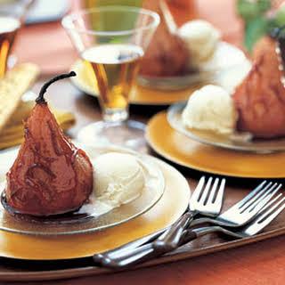 Roasted Bosc Pears with Pomegranate Glaze.