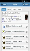 Screenshot of BeerSmith 2 Lite