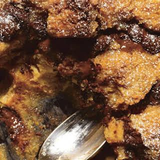 Dulce de Leche and Chocolate Chunk Bread Pudding.
