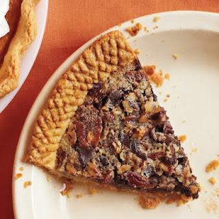 Sorghum-Sweetened Chocolate Pecan Pie.