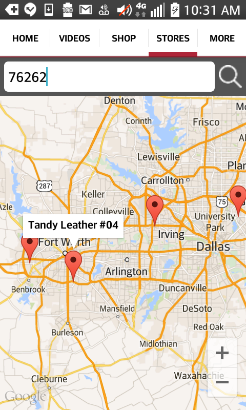 Tandy Leather App- screenshot