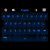 GO Keyboard Neon Blue Theme