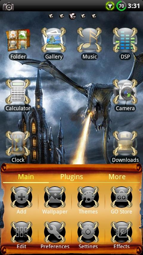 Dragon GO Launcher EX Theme- screenshot