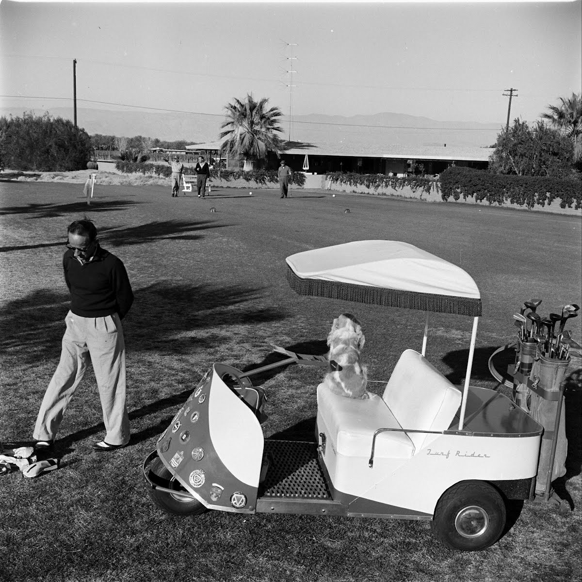 Golf Carts At Thunderbird Golf Club At Palm Springs, Calif.