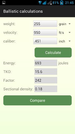 Cartridge calculations