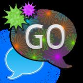 GO SMS THEME/FlowerNightSky