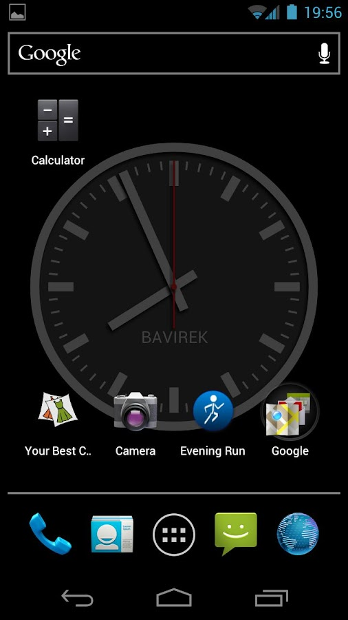 Discreet Clock Wallpaper - screenshot