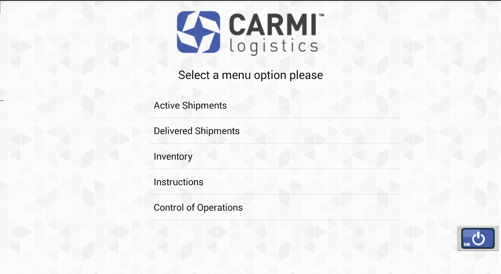 Carmi Logistics.- screenshot