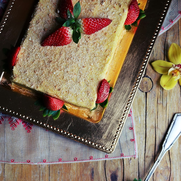 Cookie Cake with Lemon Cream Recipe