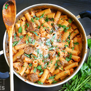 One Pot Sausage & Mushroom Pasta Recipe