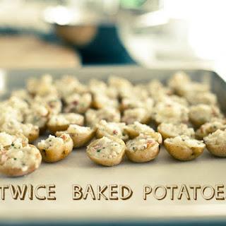 Mini Twice Baked Potatoes.