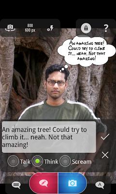 Cam Talks:Speech Bubble Camera - screenshot
