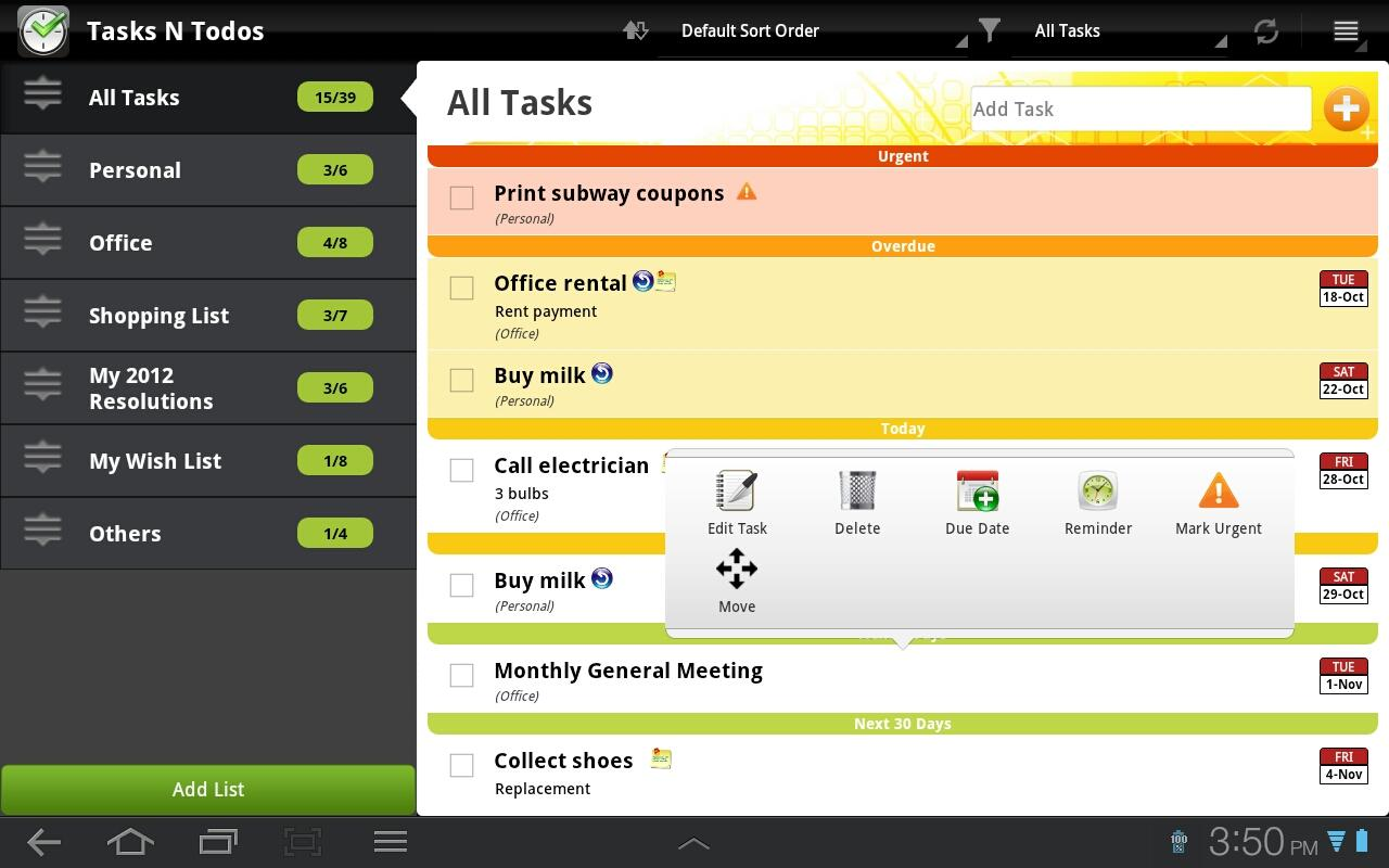 Tasks N Todos - To Do List - screenshot