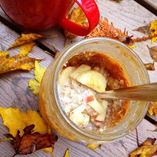 Apple Peanut Butter Overnight Oats.