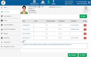 Screenshot of GenexEHR Doctor