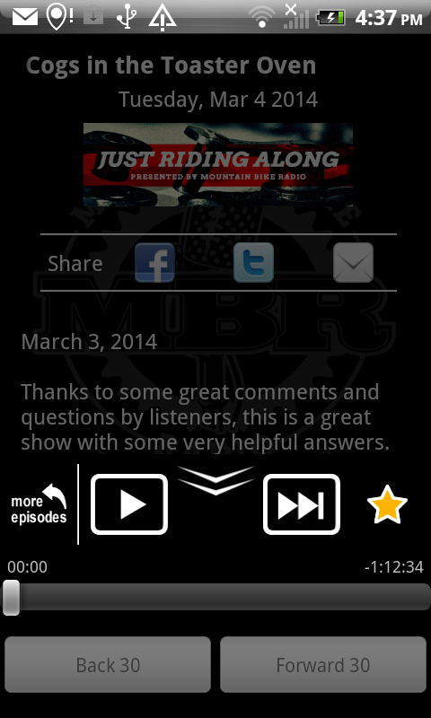 Mountain Bike Radio- screenshot