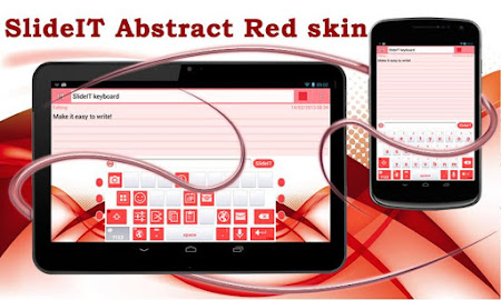 SlideIT Abstract Red Skin 4.0 screenshot 1767572