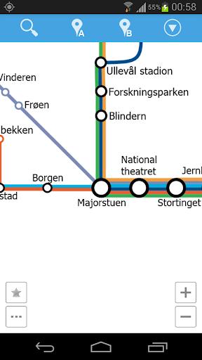 Oslo Metro Map
