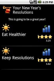 Free New Year's Resolutions- screenshot thumbnail