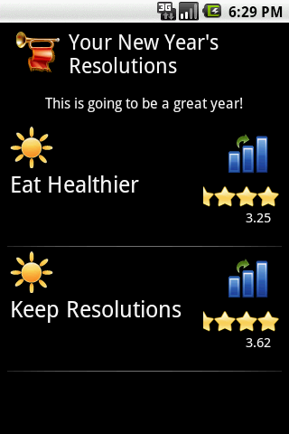 Free New Year's Resolutions - screenshot