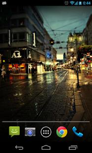 Rain Night Live Wallpaer screenshot