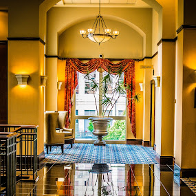 Shiny Floor by Nathaniel Jorge - Buildings & Architecture Other Interior ( decor, reflection, hdr, hotel, va, roanoke )
