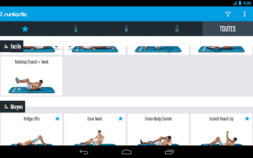 Runtastic Six Pack Musculation Abdominaux Fitness Capture d'écran