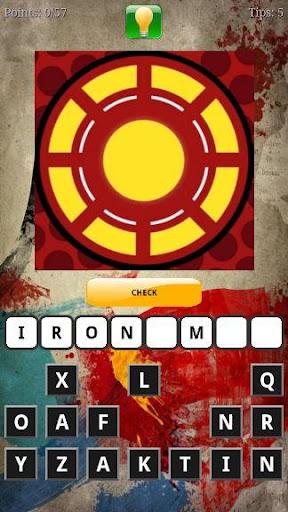 Guess the Superhero Logo Quiz screenshot