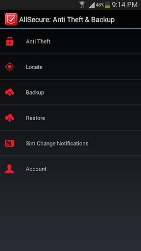 AllSecure: Anti Theft Backup