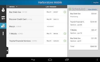 Screenshot of Harborstone Mobile Banking