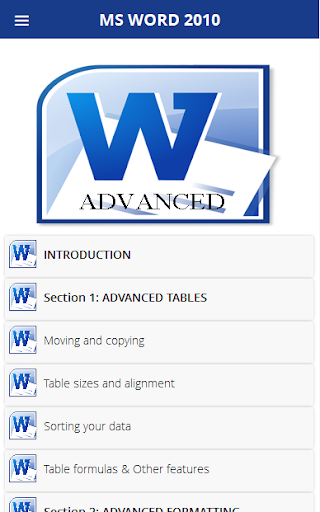 Word 2010 Tutorial Advanced