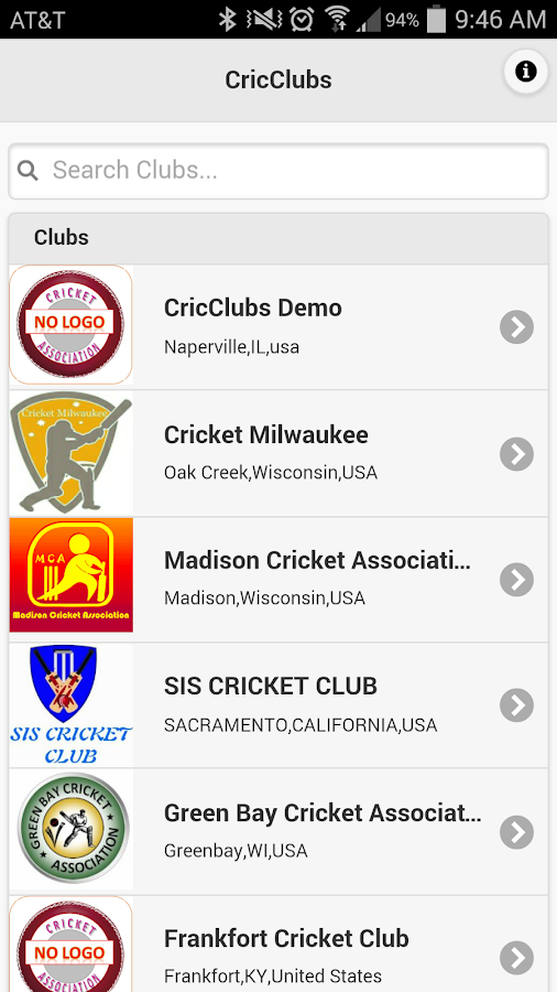 Cricclubs Mobile- screenshot