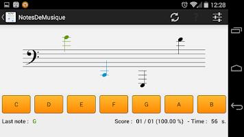 Screenshot of NotesDeMusique (Music Notes)