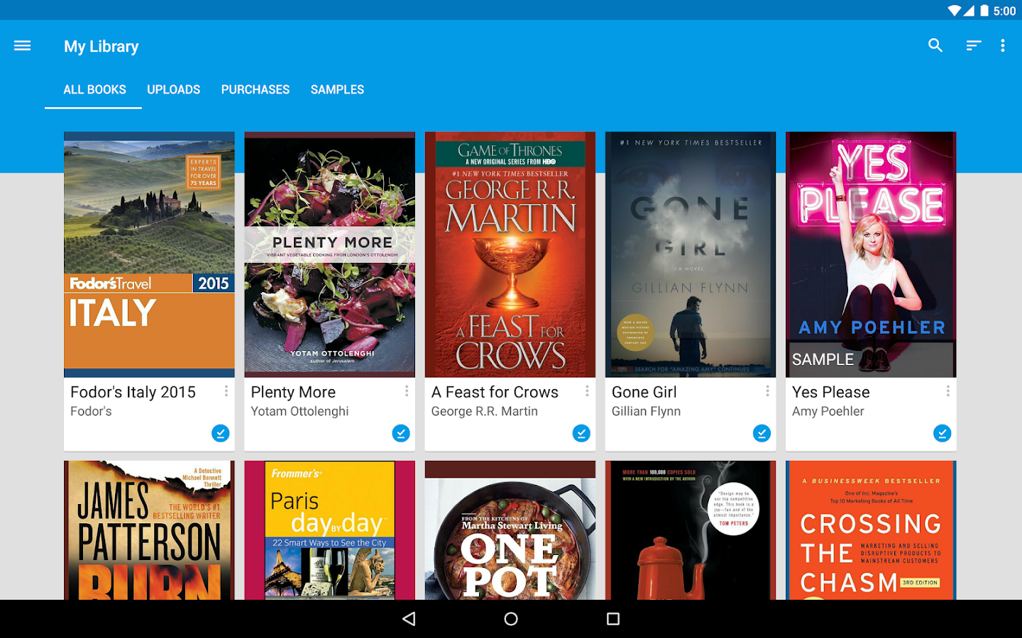 Google Play Books: captura de pantalla