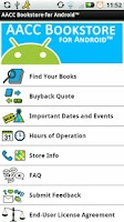 Screenshot of AACC Bookstore for Android™