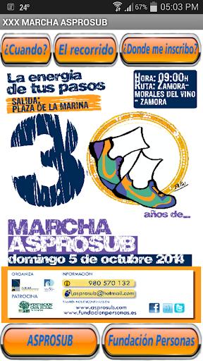 Marcha Asprosub Zamora