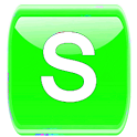 Green W Socialize for Facebook icon