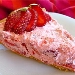 Fluffy Strawberry Pie.