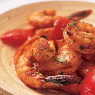 Garlic-Roasted Shrimp with Red Peppers and Smoked Paprika.
