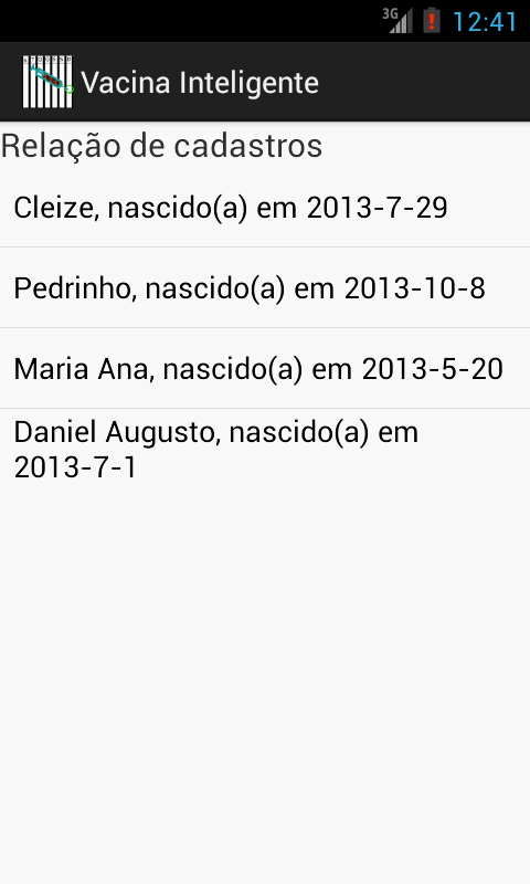 Vacina Inteligente- screenshot