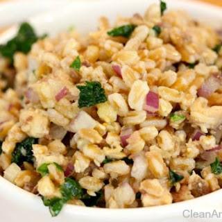 Farro Salad with Sardines & Kale
